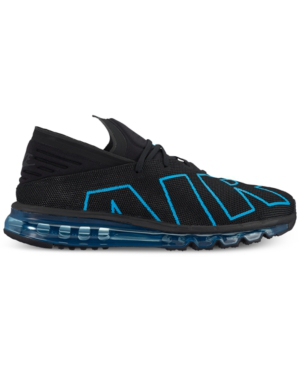 Nike Men's Air Max Flair Running Sneakers From Finish Line In Black/neo Turquoise-black