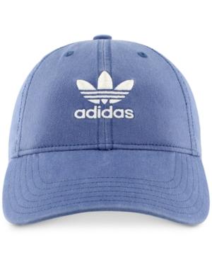 Adidas Originals Adidas Women's Originals Cotton Relaxed Cap In Trace Royal/ White