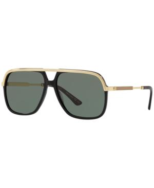 Gucci Sunglasses, Gg0200S In Green/Black