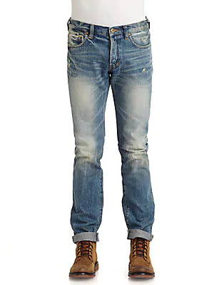 Prps Barracuda Straight-fit Jeans In Blue