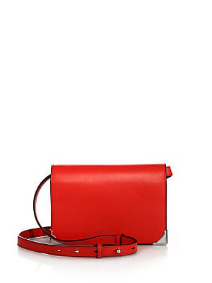 Alexander Wang Prisma Double Biker Leather Crossbody Bag In Cult
