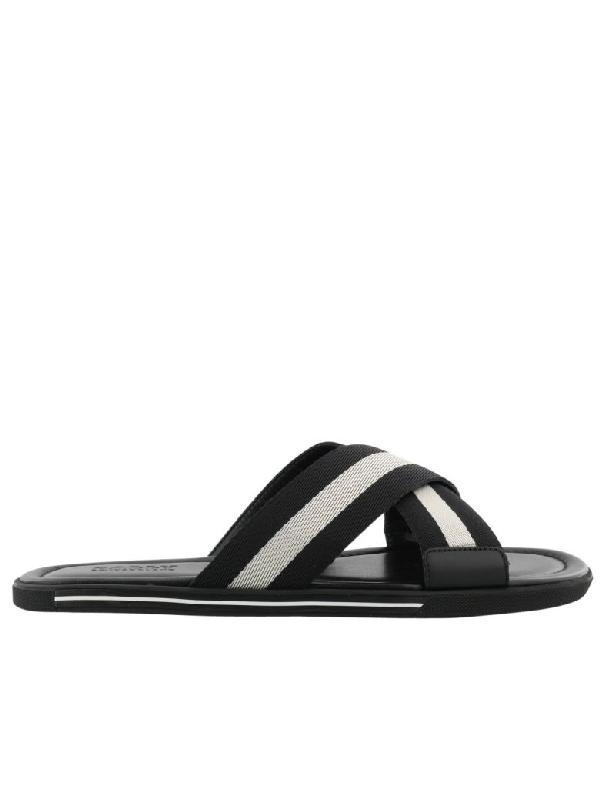 Bally Bonks Sandal In Black-bone