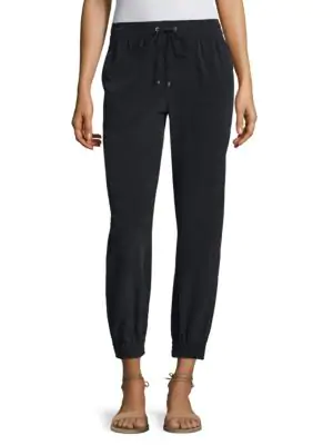 Theory Cortlandt Silk Jogger Pants In Concord