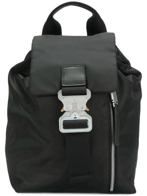 Alyx Buckle Detail Backpack In Black