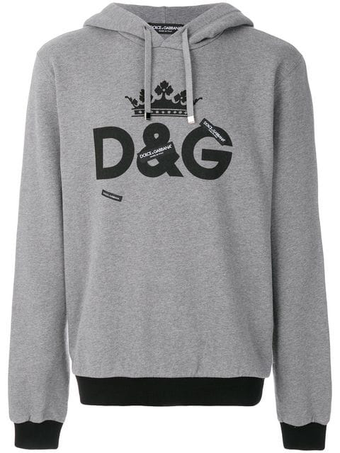 Dolce & Gabbana Dolce And Gabbana Grey Logo Hoodie In Hii40 Grey