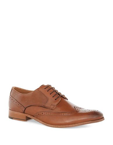 Topman Baker Leather Brogues-brown
