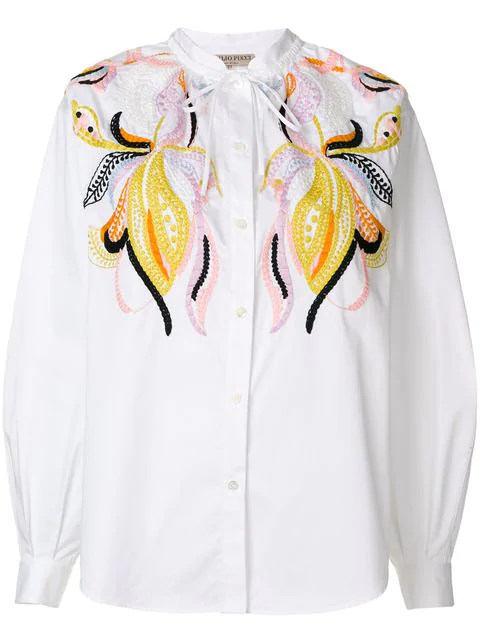 Emilio Pucci Casual Embroidered Shirt