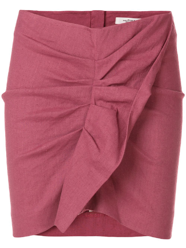 Etoile Isabel Marant Othily Skirt In Pink & Purple