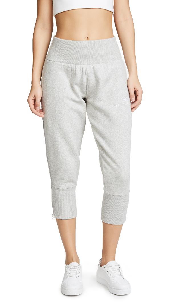 Adidas By Stella Mccartney Essential 3/4 Sweatpants In Marble Grey Heather