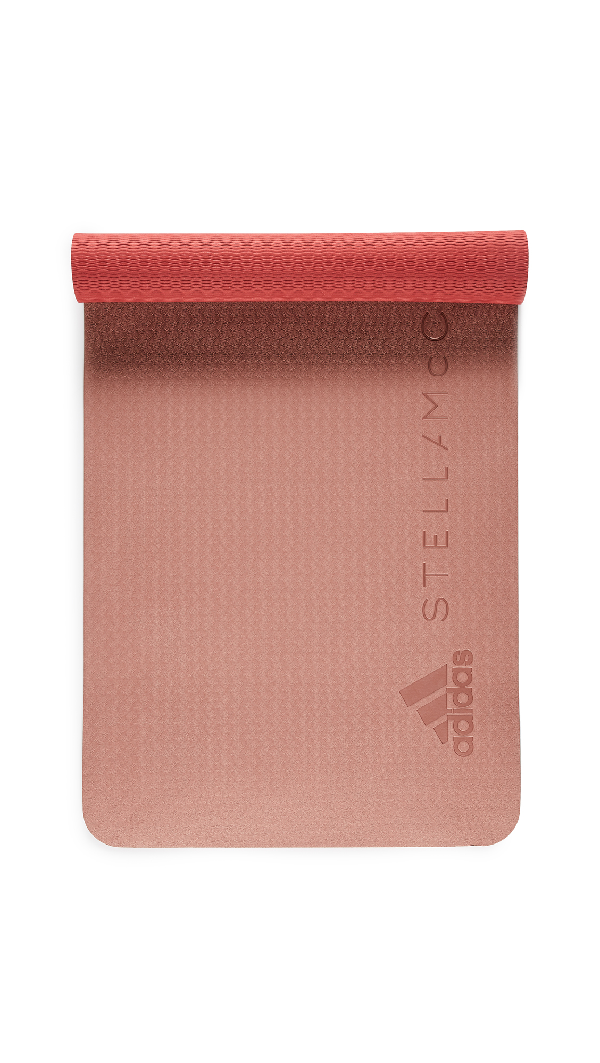 Adidas By Stella Mccartney Reversible Training Mat In Dark Callisto