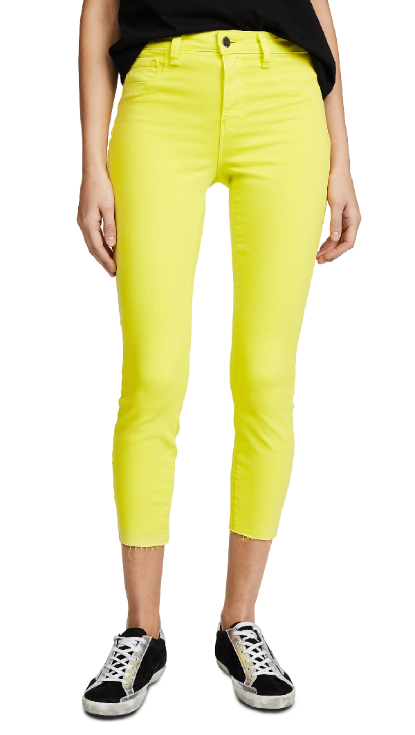 L Agence Margot High Rise Jeans In Citron