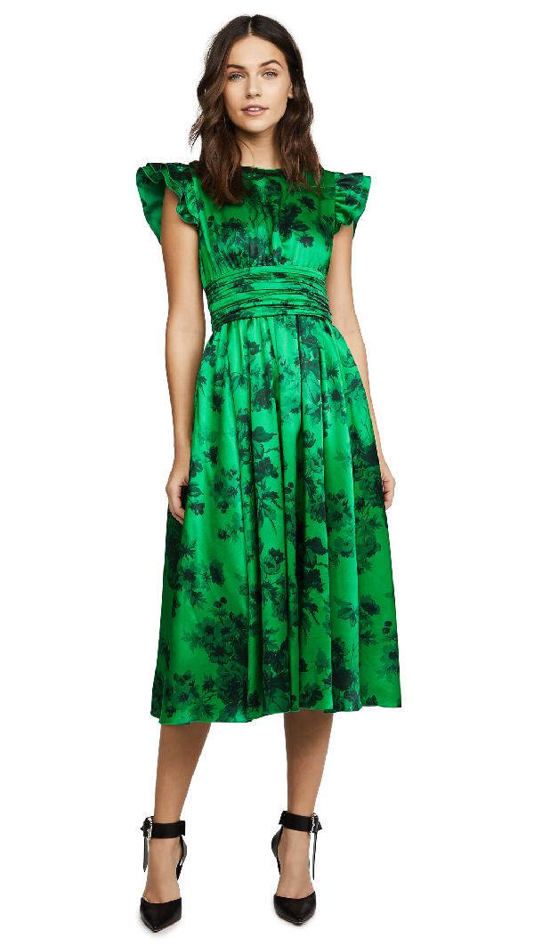 N°21 Patterned Dress In Green