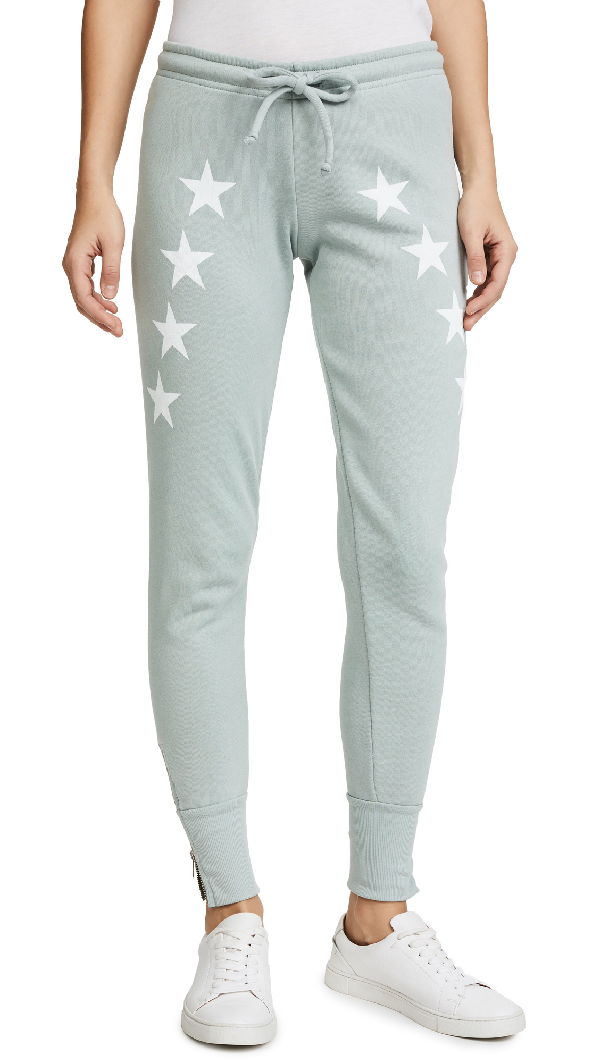 Wildfox Cosmos Sweatpants In Pigment Cadet Blue