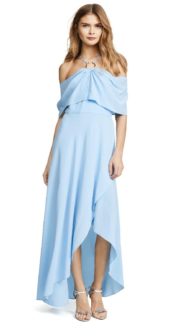 Yigal AzrouËl Cold Shoulder Dress In Light Blue
