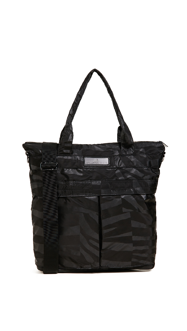 Adidas By Stella Mccartney Essentials Sports Tote In Black/gun Metal/white
