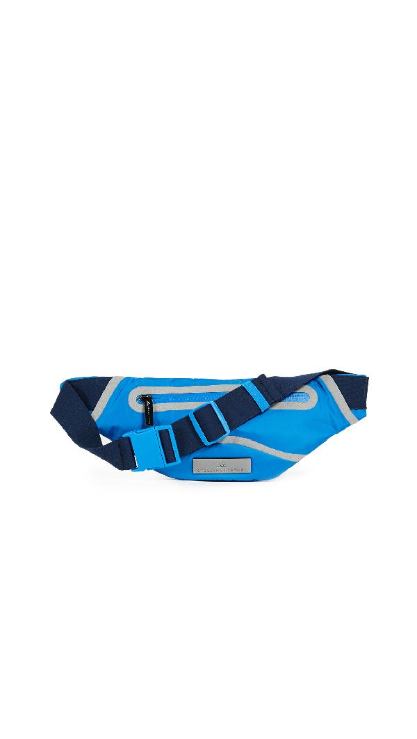 Adidas By Stella Mccartney Run Belt Fanny Pack In Blue/collegiate Navy