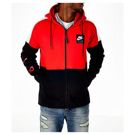 Nike Men's Sportswear Air Full-zip Hoodie, Red