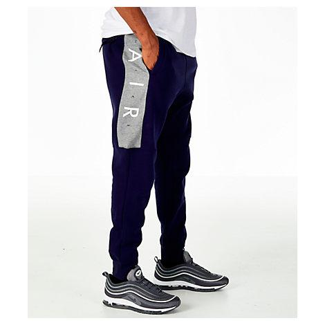 Nike Men's Sportswear Air Fleece Jogger Pants, Blue