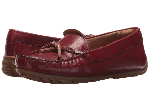 Clarks , Red Leather