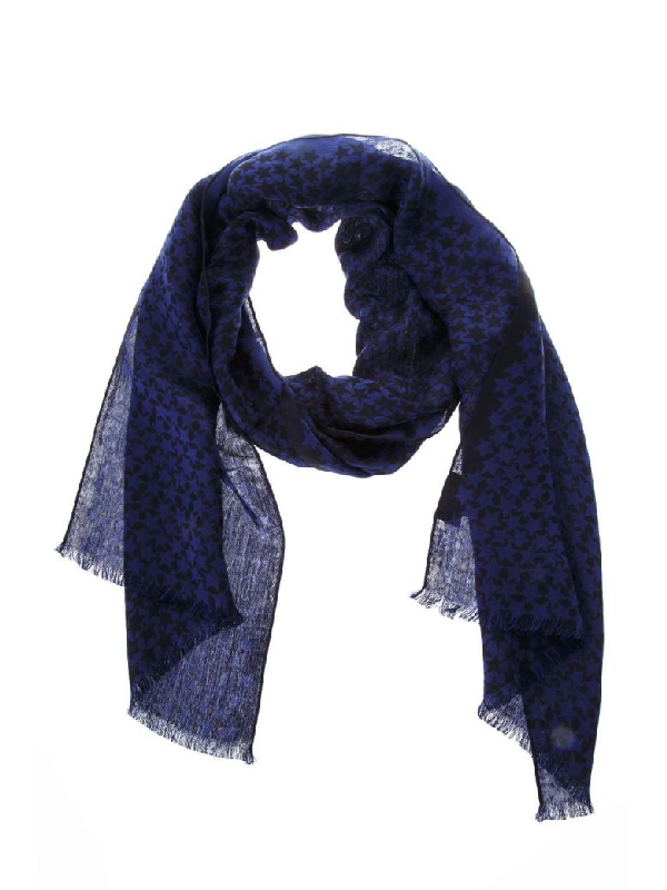 Valentino Blue Colour Printed Scarf