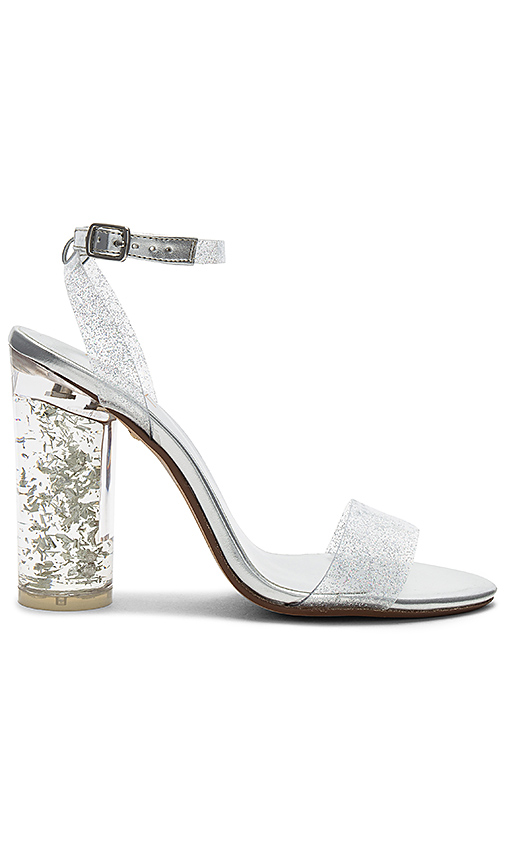 Raye Sammy Heel In Metallic Silver