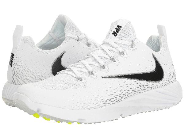 Nike Vapor Speed Turf In White/black/metallic Silver