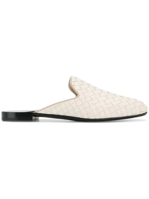 f172affbdfba9 Bottega Veneta Fiandra Intrecciato Leather Backless Loafers In ...