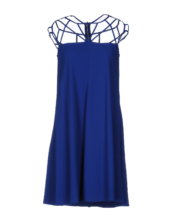 Mangano Short Dress In Blue