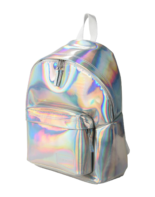 Eastpak Backpack & Fanny Pack In Silver