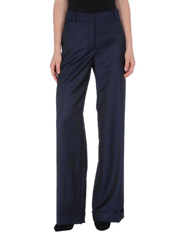 Stella Mccartney Dress Pants In Dark Blue