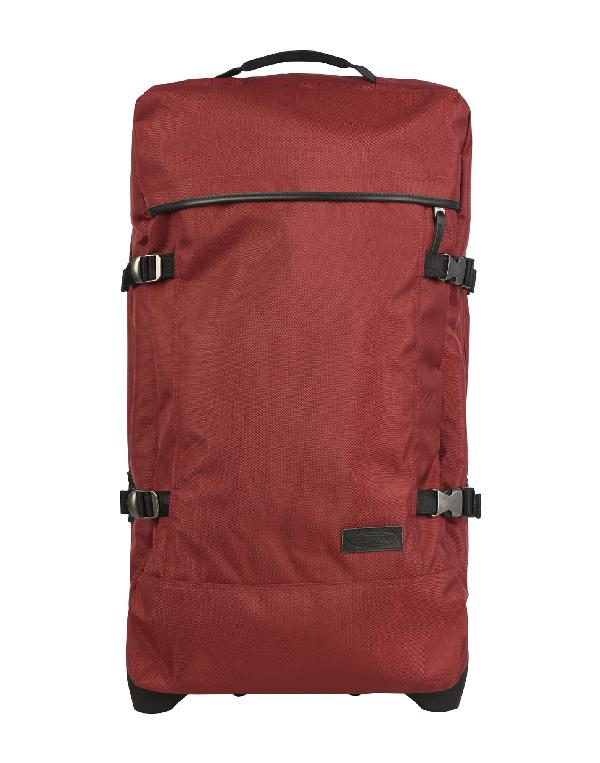 Eastpak Wheeled Luggage In Maroon