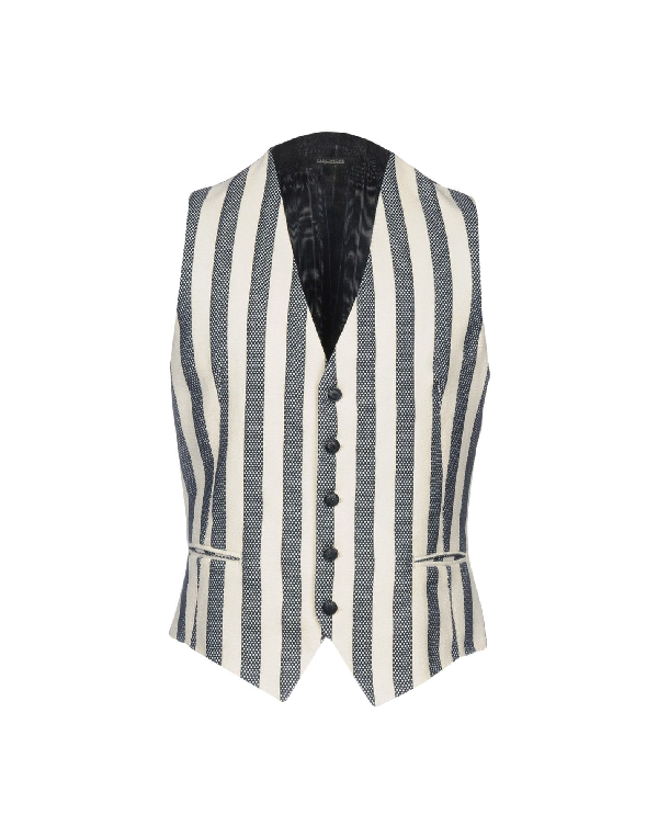 Tagliatore Suit Vest In Dark Blue