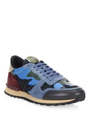 Valentino Garavani Camo Leather Sneakers In Camou Bt B