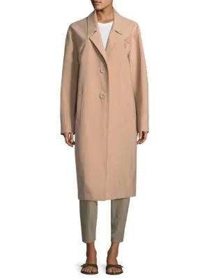 Becken Oversized Canvas Coat In Blush