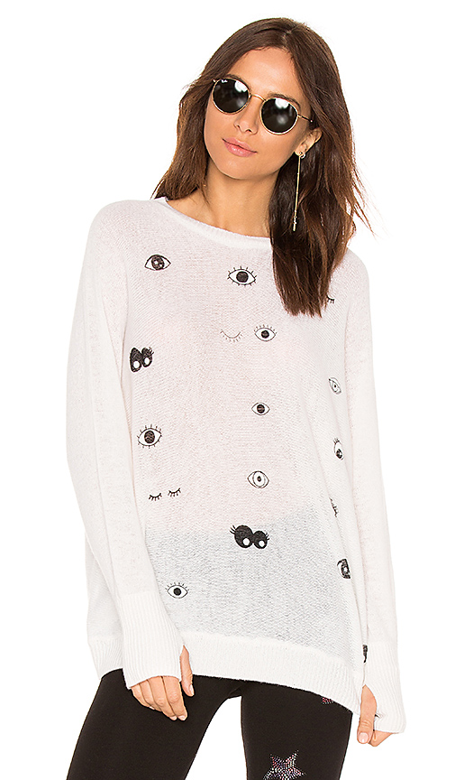 Lauren Moshi Ladona Draped Cashmere Sweater In Ivory