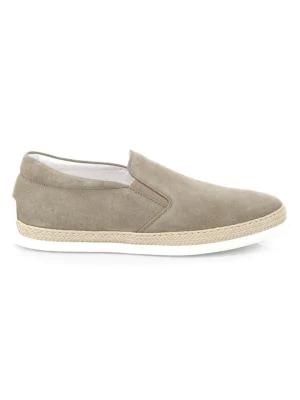Tod's Suede Espadrille Slip-on Sneaker, Tan In Torba Suede