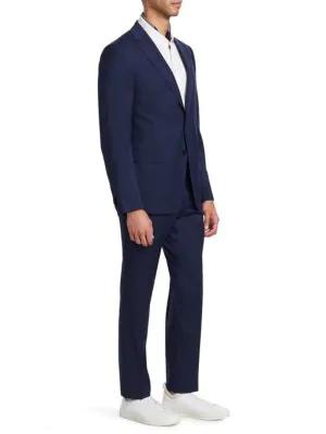 Z Zegna Wool Suit In Blue