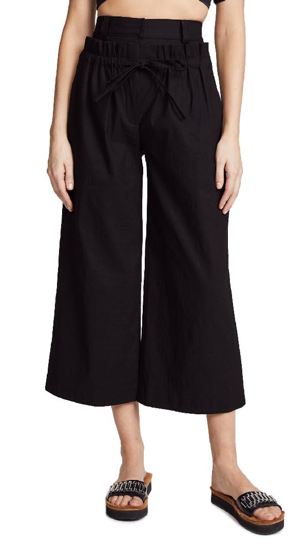 A.l.c Henderson Wide-leg Pants In Black