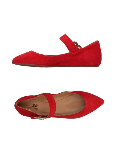 Love Moschino Ballet Flats In Red