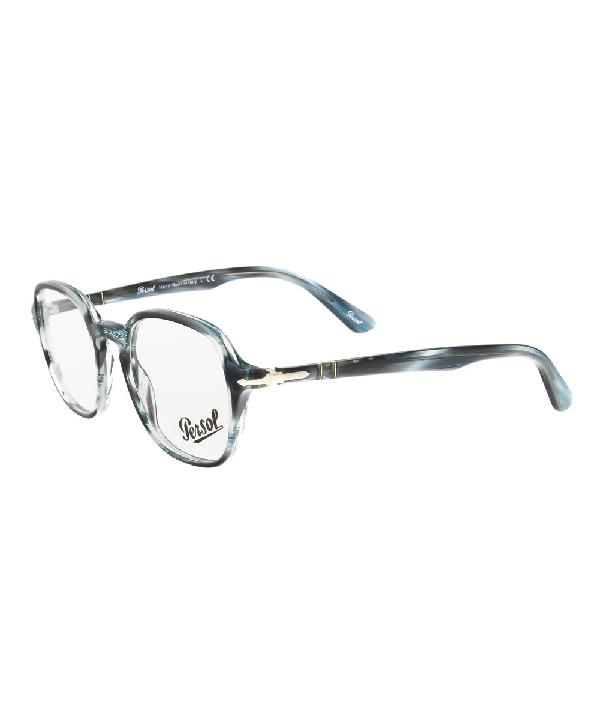 Persol Po3142v 1051 Grey/teal Square Optical Frames