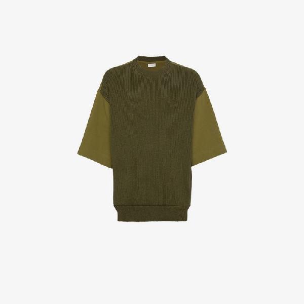Dries Van Noten Short Sleeved Sweater In Green