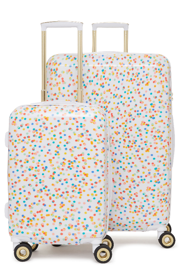 Calpak X Oh Joy! 28-inch & 20-inch Hardshell Spinner Suitcase & Carry-on Set - White In Confetti