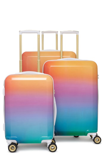 Calpak X Oh Joy! 28-inch, 24-inch & 20-inch Hardshell Spinner Suitcase & Carry-on Set - Blue In Sunset