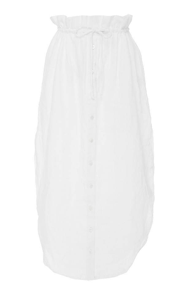 Faithfull Thassia Midi Skirt In White