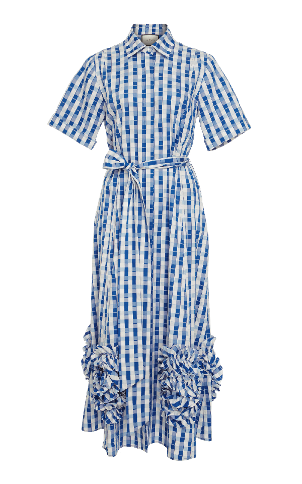 Alexis Zhenya Midi Dress In Plaid