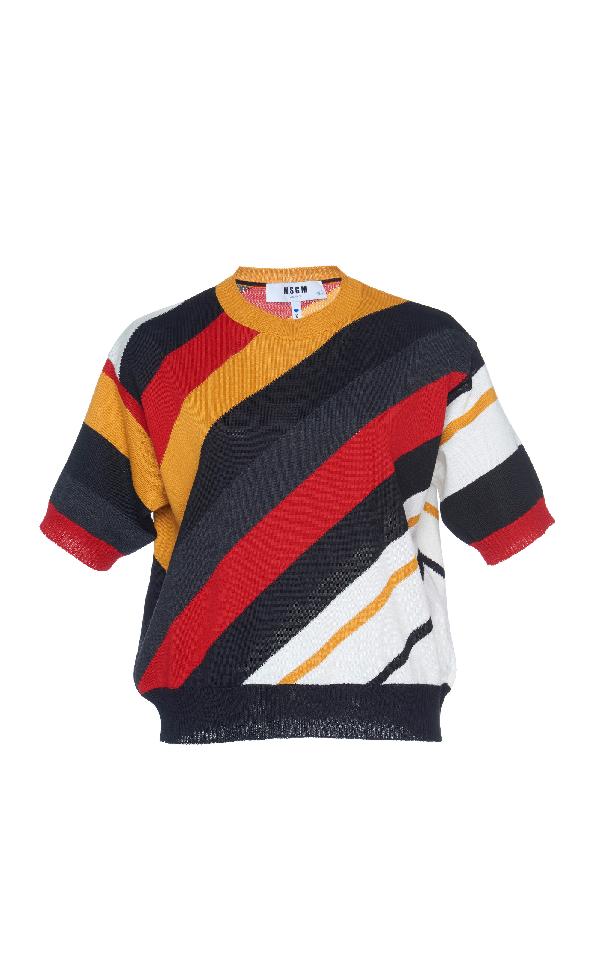 Msgm Multi Color Stripe Sweater