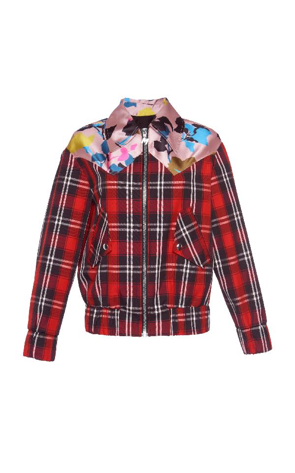 Msgm Floral Plaid Jacket