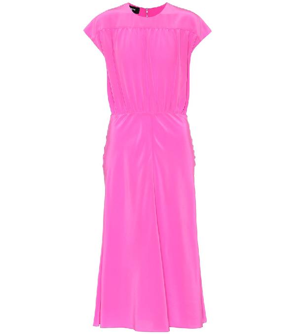 Rochas Cap Sleeve Dress In Pink