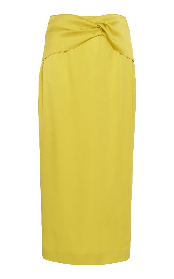 Rochas Midi Pencil Skirt In Yellow