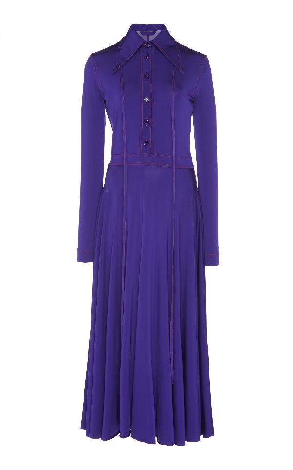 Nina Ricci Luxury Jersey Dress In Purple